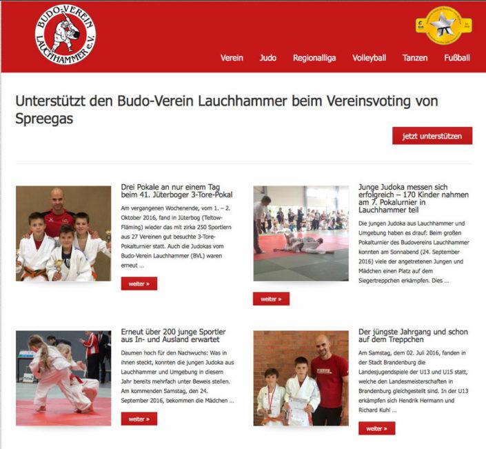 Webseite Budo-Verein Lauchhammer e.V.